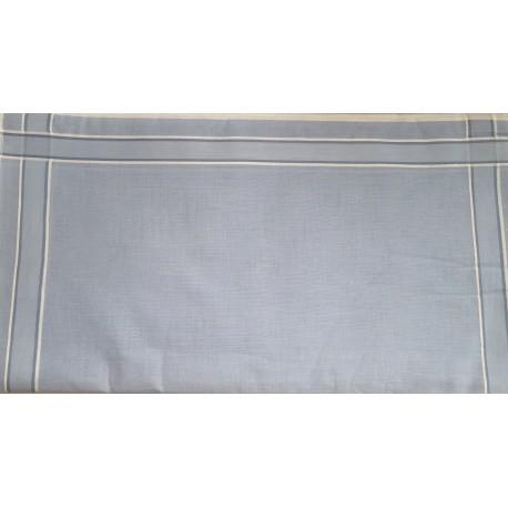 Lot de 12 mouchoirs en tissus Homme à lignes Bleu