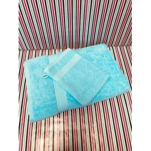 Maxi Draps de Bains Eponge Turquoise 100 x 150