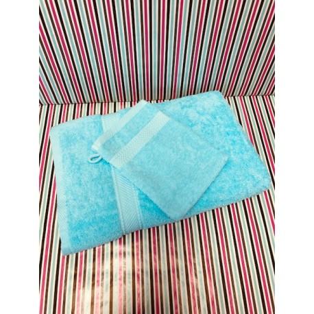 Gant de toilette Eponge 16 x 21 Turquoise