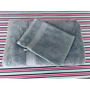 Maxi Draps de Bains Eponge Gris Souris 100 x 150