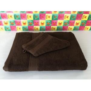 Maxi Draps de Bains Eponge Chocolat 100 x 150