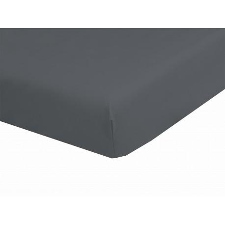 Drap Housse Gris Foncé Bonnets DE 30 cm 160 x 200 100% Coton 57 Fils/cm² confectionné en France