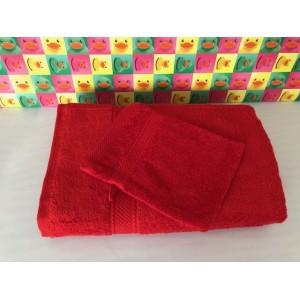 Serviette Eponge Rouge 50 x 100
