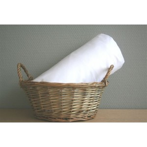 Drap housse 180 / 200 coton uni blanc